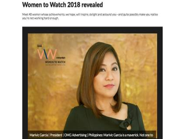 Women to Watch 2018 Revealed